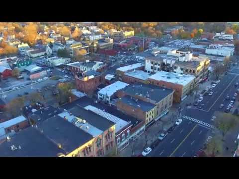 Downtown Saratoga Drone
