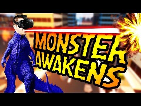 Destroying Cities and Eating People! - VR Monster Awakens Gameplay - Let's Play VR Monster Awakens