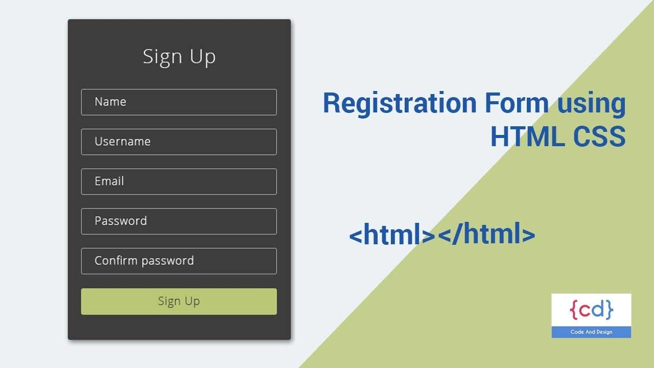 Create a simple form with HTML and CSS Just in Minutes ... on
