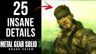 25 INSANE Details in MGS3
