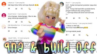 Jawab QNA & build off kitchen,face reveal?? 😮💛 || Roblox Indonesia