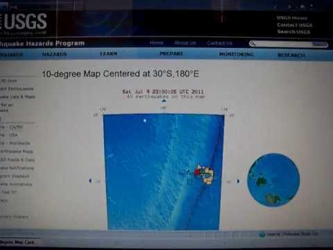 7-9-2011 Seismic Watch: Kermadec Trench, Alaska, Japan
