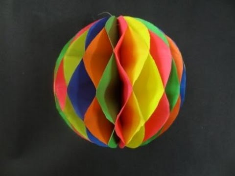 paper crafts how to make a paper honeycomb ball youtube