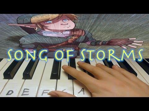 Piano Tutorial | Song of Storms | Zelda