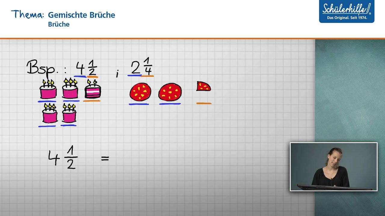gemischte brüche // brüche // mathematik // schülerhilfe lernvideo