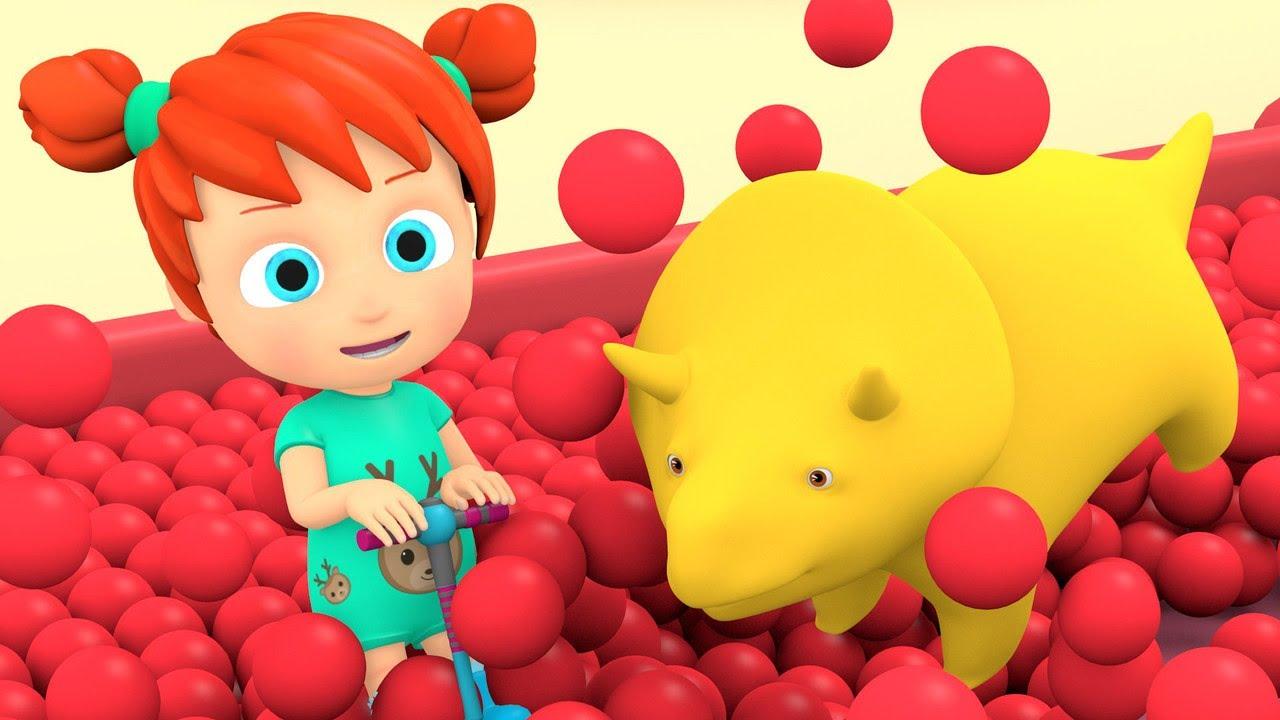 Учим цвета и цифры - Огромная горка с шариками ...