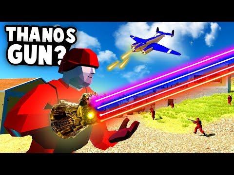 INFINITY WAR Battle! The New THANOS GUN! (Ravenfield Best Mods)