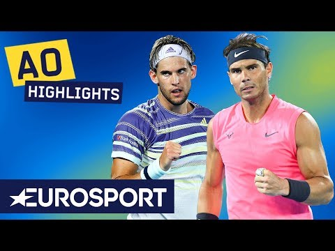 Rafael Nadal Vs Dominic Thiem Highlights | Australian Open 2020 Quarter Finals | Eurosport