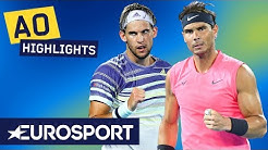 Rafael Nadal vs Dominic Thiem Highlights | Australian Open 2020 Quarter Finals | Eurosport