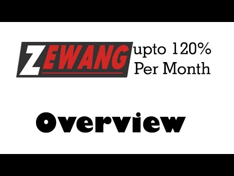 Zewang Help Account Overview