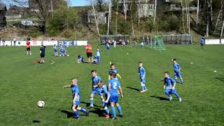 Fotbal 14.4.18.Triangl U8-Baník,Vítky,Sparta,Brno,Olomouc,Slovácko v Markvartovicích,zápas č.3.