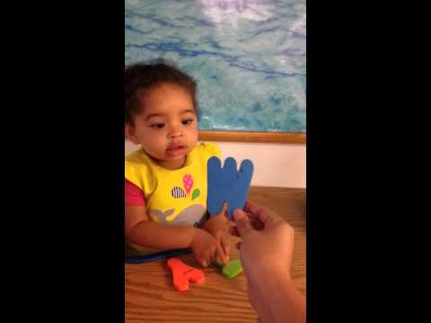 Juniorversity 21 month old child knows her letters