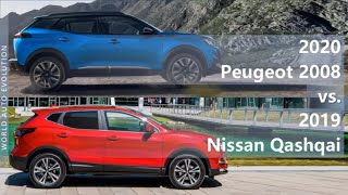 2020 Peugeot 2008 Vs 2019 Nissan Qashqai Technical Comparison Youtube