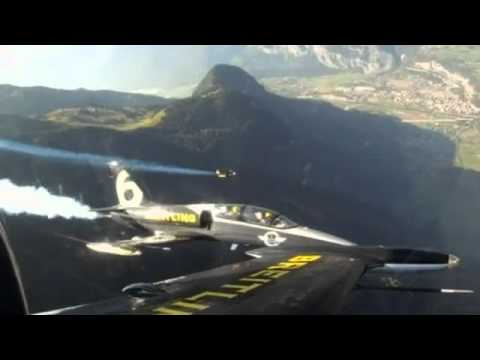 Jet Man Flies With Jet Pack Over Swiss Alps YouTube - Crazy video of two guys flying jetpacks over dubai