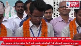 महात्मा गांधी पोस्टग्रेजुएट कॉलेज के छात्र संघ चुनाव में अध्यक्ष तेजस शुक्ला, उपाध्यक्ष आकाशदीप सिंह