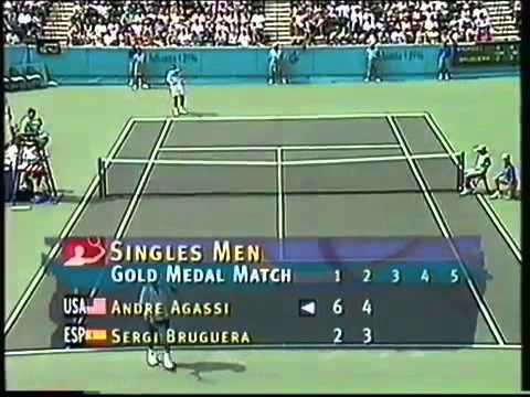 1996 Final Atlanta Olympics, Agassi vs Bruguera