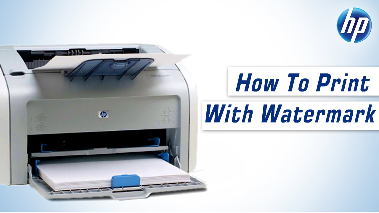 Hp Laserjet 1020 Plus How To Print With Watermark Youtube