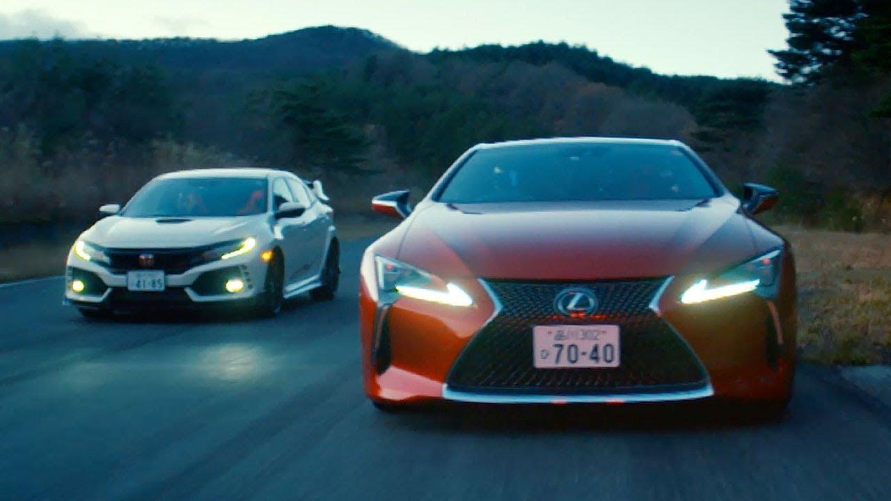 Lexus LC500 vs Honda Civic Type R | Top Gear: Series 25