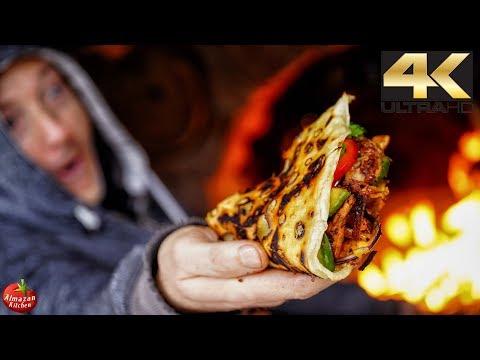 Ultimate Turkey Quesadilla! - 4K Outside Winter Cooking