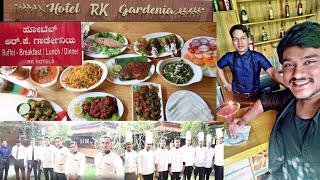 Hotel Rk Gardenia Amazing food at Chandapura kannada food review kiran s food review vlogs