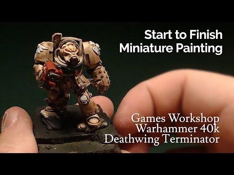Miniature Painting | Warhammer 40k | Dark Angels - Deathwing Terminator