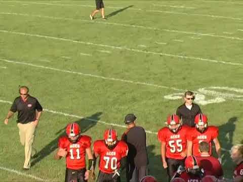 Hicksville Varsity Football Scrimmage vs. Ft. Recovery 8-18-17 (First Half)