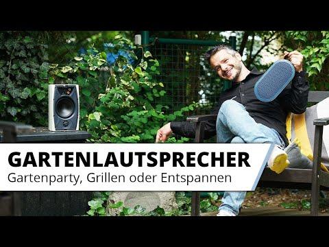 Wetterfeste Aussen Lautsprecher im Garten - viel besser als jeder Bluetooth Lautsprecher