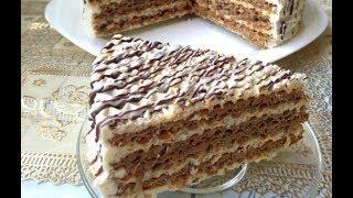 Вафельный торт из готовых коржей. Очень простой рецепт.