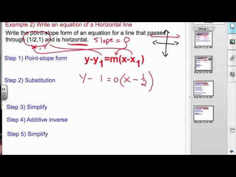 Ch 5 5 Writing Equations In Point Slope Form Y Y1mx X1 Youtube