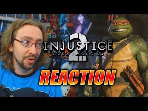 MAX REACTS: Ninja Turtles Gameplay Trailer - INJUSTICE 2