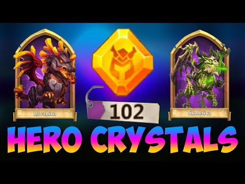100 HERO Crystals INSANE Openings WILD Session Castle Clash