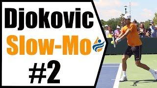 Novak Djokovic Slow Motion Forehand, Backhand & Serve   Cincinnati 2014