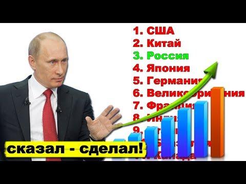Путин выводит экономику России в пятёрку крупнейших экономик мира | Pravda GlazaRezhet