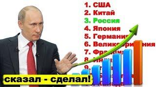 Путин выводит экономику России в пятёрку крупнейших экономик мира   Pravda GlazaRezhet