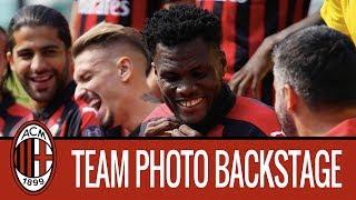 AC Milan team photo backstage