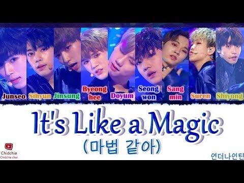 UNDERNINETEEN (언더나인틴) - It's Like Magic (마법 같아) [Han/Rom/Eng] Lyrics (가사)