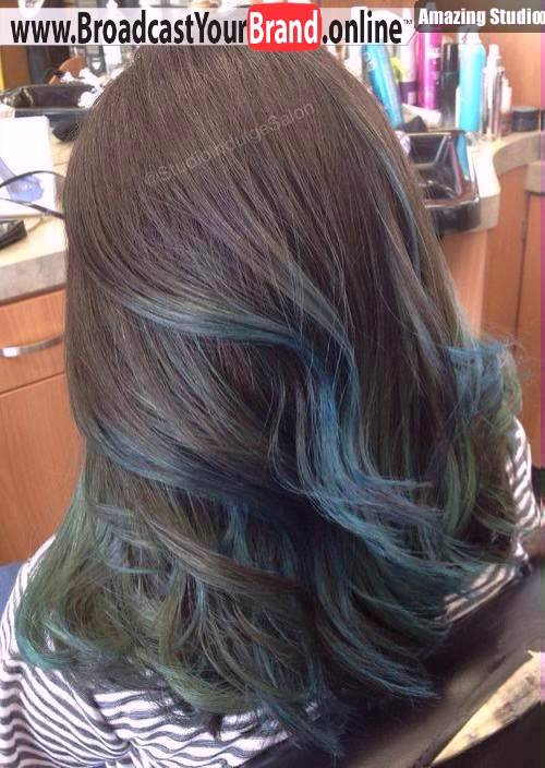 Brown Hair With Pastel Blue Balayage Youtube