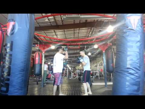 Personal Training Focus Mitts with Keith in Hawaii