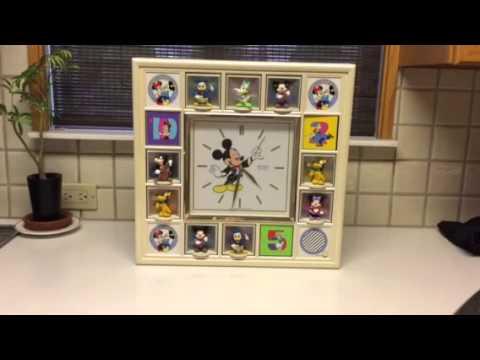 Disney Seiko Animated Wall Clock Qfw101w Youtube
