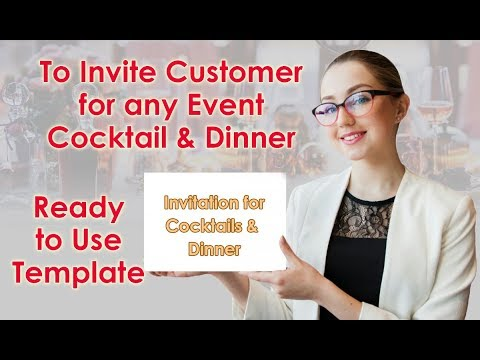 How To Invite Customer For Any Event / Dinner Invitation For Client