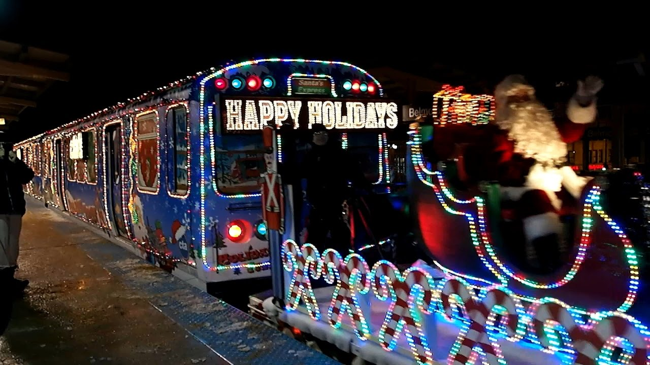 20161213 chicago cta holiday train at belmont - Chicago Christmas Station