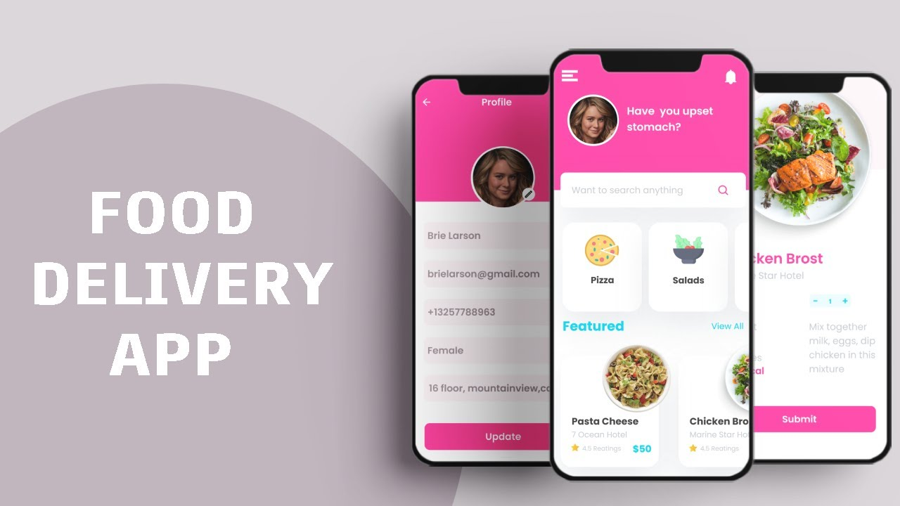 Make About Page And Contact Us With Validation Flutter - Food App Part 8