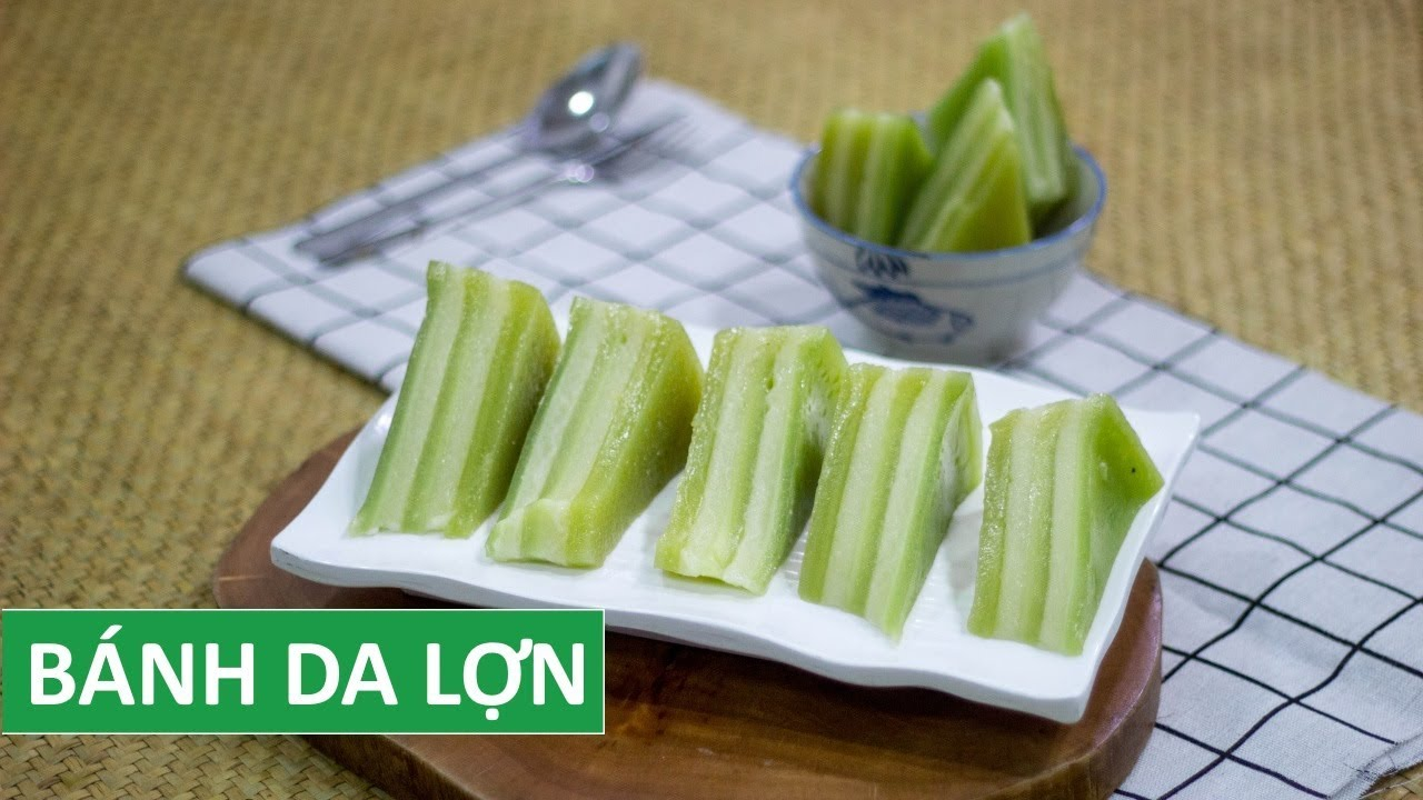 Cách làm BÁNH DA LỢN đậu xanh màu lá dứa tự nhiên tại nhà   Món Việt