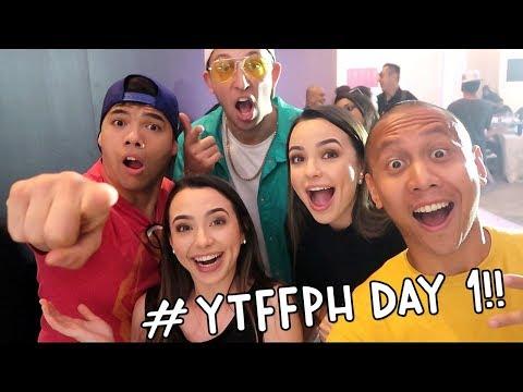 YOUTUBE FANFEST MANILA 2018 (Merrell Twins, D-Trix, Matt Steffanina, Wilodia, etc) DAY 1   Vlog #127