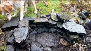 Bushcraft Stone Oven Part 1 - Building the Foundations