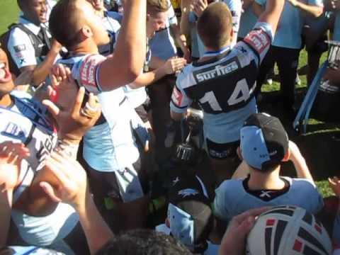 sharks sgBall singing up up cronulla