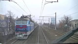 В кабине электровоза ВЛ40у-1384.1 между Дарницей и Киев-Пассажирским