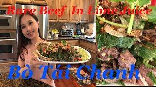 Cách làm Bò Tái Chanh Ngon Khó Cưỡng - Rare Beef In Lime Juice Salad