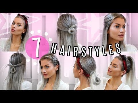 7 STRAIGHT HAIR HEATLESS HAIRSTYLES! SIMPLE & EASY! | LYSSRYANN