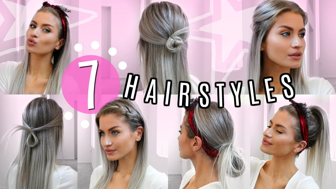 12 STRAIGHT HAIR HEATLESS HAIRSTYLES! SIMPLE & EASY!  LYSSRYANN